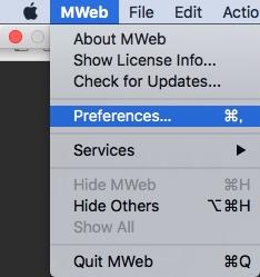Mweb_Preferences